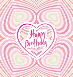 Happy Birthday Card Pink abstract background vector image vector image