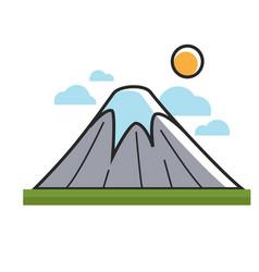high mountain under sun vector image vector image