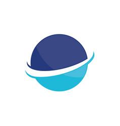 planet globe sphere color logo image vector image