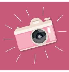 retro camera pink vintage icon photo vector image