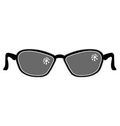 symbolic image of sunglasses vector image