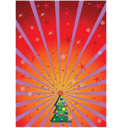 xmas background with rays vector image vector image