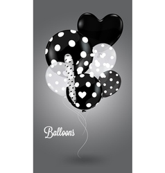 Black and white composition with balls vector image