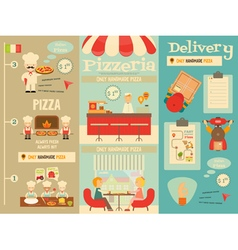 pizzeria posters vector image