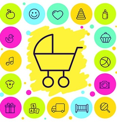 Set of icons baby goods vector