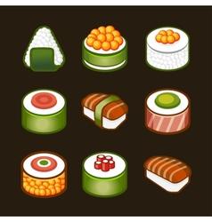 sushi set - japan cousine vector image
