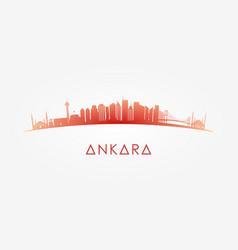 ankara turkey skyline silhouette vector image