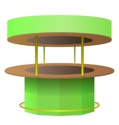 Bar counter green and brown vector image vector image