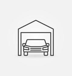 car garage icon - symbol in thin line style vector image vector image