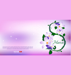 greeting card with 8 march happy international vector image