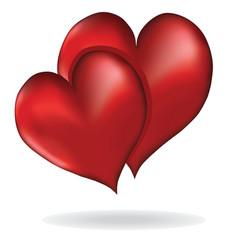Hearts symbol of love element design vector image vector image