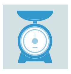 kitchen scales vector image vector image