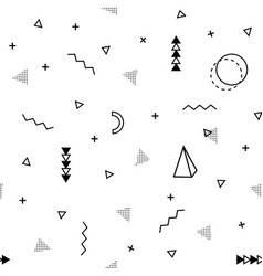 Memphis background abstract pattern fashion 80 vector