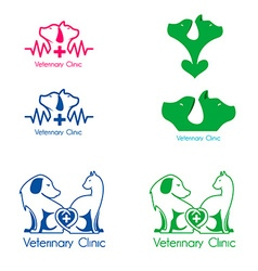 veterinary clinic labels templates vector image vector image