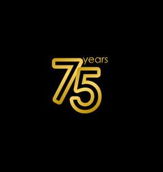 75 years anniversary elegant gold celebration vector