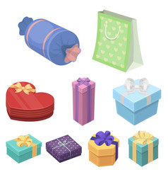 a set of pictures gifts gifts for different vector image