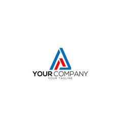 Aa letter logo design template vector