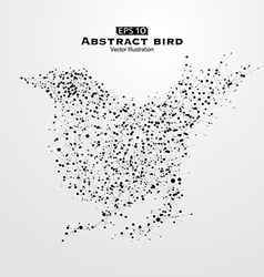 Abstract bird consisting of points and lines vector
