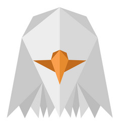abstract low poly eagle icon vector image