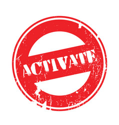 Activate rubber stamp vector