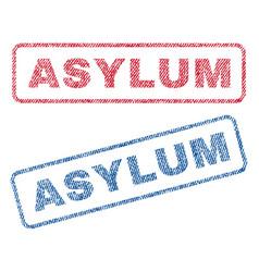 Asylum textile stamps vector
