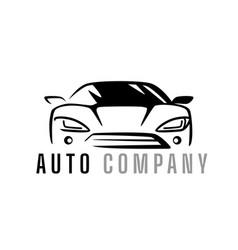 Auto car logo design front vehicle silhouette vector