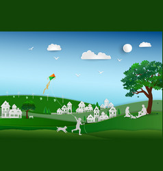 back to nature and save the environment concept vector image