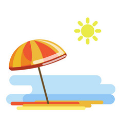 beach umbrella in sunny day vector image