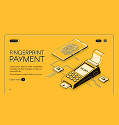 biometrics technologies company web banner vector image