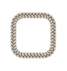Braided frame in form square isolated on white vector