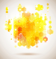 Bright and optimistic poster Lush yellow abstract vector