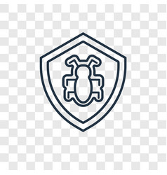Bug report concept linear icon isolated on vector