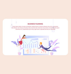 Business planning analysis document design banner vector