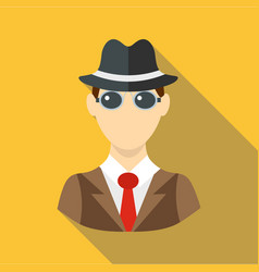 Businessman icon flat style vector