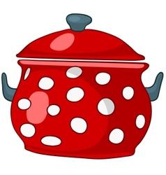 Cartoon home kitchen pot vector