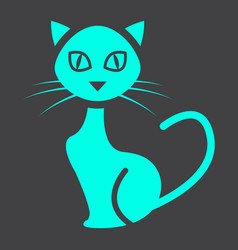 cat glyph icon halloween and scary animal sign vector image