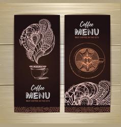 Coffee menu design sketch of cup of coffee vector