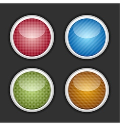 Color buttons set vector image