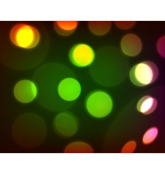 Colorful bokeh background eps 10 vector image