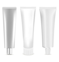 cosmetic tube set realistic m vector image