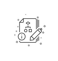 Documentation with algorithm line icon technical vector