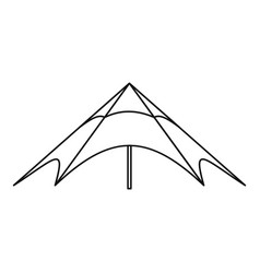 Festival outdoor tent icon outline style vector
