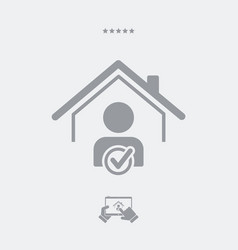 Find home purchaser - web icon vector