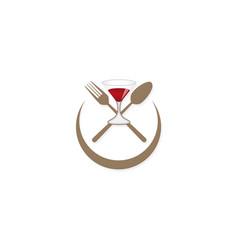 food restaurant wine logo vector image