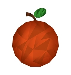 fresh fruit low poly isolated icon vector image