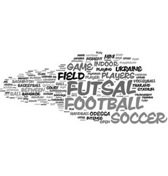 futsal word cloud concept vector image