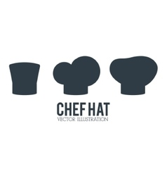Hat icon set of restaurant chef design vector