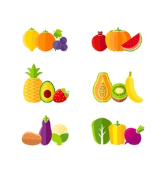 Healthy diet design elements with fruits vector image