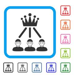 hierarchy men framed glad icon vector image
