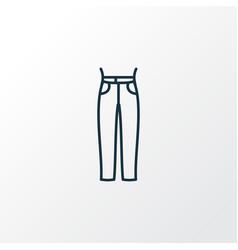 high waist jeans icon line symbol premium quality vector image
